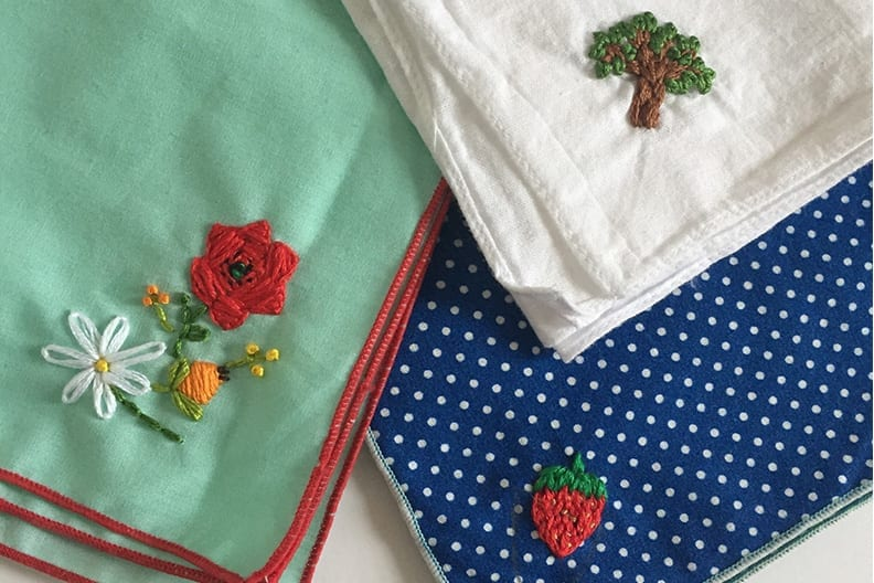 Antique Style: Hanky Primer Embroidered and Petit Point Hankies